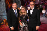 """(L-R) Peter Del Vecho,  Jennifer Lee, Chief creative officer of Walt Disney Animation Studios and Chris Buck attend the premiere of Disney's """"Frozen 2"""" at Dolby Theatre on November 07, 2019 in Hollywood, California."""