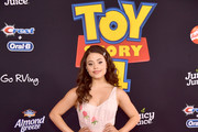 """Sarah Jeffery attends the premiere of Disney and Pixar's """"Toy Story 4"""" on June 11, 2019 in Los Angeles, California."""