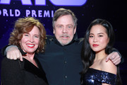 """(L-R) Marilou York, Mark Hamill, and Kelly Marie Tran attend the Premiere of Disney's """"Star Wars: The Rise Of Skywalker"""" on December 16, 2019 in Hollywood, California."""