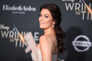 "Bellamy Young attends the premiere of Disney's ""A Wrinkle In Time"" at the El Capitan Theatre on February 26, 2018 in Los Angeles, California."