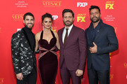 (L-R) Actors Darren Criss, Penelope Cruz, Edgar Ramirez, and Ricky Martin attend the premiere of FX's 'The Assassination Of Gianni Versace: American Crime Story' at ArcLight Hollywood on January 8, 2018 in Hollywood, California.