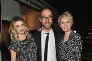 """Actress Megan Ferguson, executive producer Ben Wexler and actress Stephnie Weir attend the after party for the premiere of FX's """"The Comedians"""" at the Viceroy Hotel on April 6, 2015 in Santa Monica, California."""