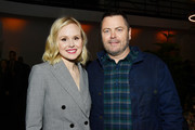 """Alison Pill and Nick Offerman attend the after party for the premiere of FX's """"Devs"""" on March 02, 2020 in Hollywood, California."""