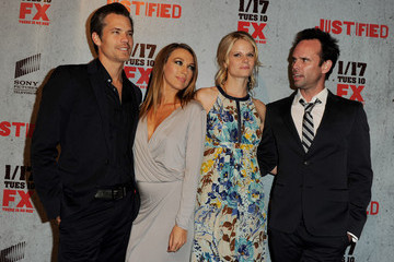 "Natalie Zea Joelle Carter Premiere Of FX Networks & Sony Pictures Television's ""Justified"" Season 3 - Red Carpet"