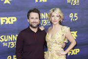 Charlie Day and Mary Elizabeth Ellis attend the premiere of FXX's 'It's Always Sunny In Philadelphia' season 13 at Regency Bruin Theatre on September 4, 2018 in Los Angeles, California.