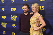 """Charlie Day and Mary Elizabeth Ellis attend the premiere of FXX's """"It's Always Sunny In Philadelphia"""" Season 13  at Regency Bruin Theatre on September 4, 2018 in Los Angeles, California."""
