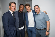 Jason Cassidy, Corey Hawkins, Jason Blum and guest attend the after party for the premiere of Focus Features' 'BlaKkKlansman' at Samuel Goldwyn Theater on August 8, 2018 in Beverly Hills, California.