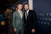 "Lucas Hedges and Joel Edgerton attend the premiere of Focus Features; ""Boy Erased"" at Directors Guild Of America on October 29, 2018 in Los Angeles, California."
