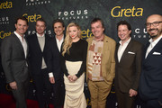 "Jason Cassidy, Robert Walak, Lawrence Bender, Chloe Grace Moretz, Neil Jordan, John Penotti and Peter Kujawski attend the premiere of Focus Features' ""Greta"" at ArcLight Hollywood on February 26, 2019 in Hollywood, California."