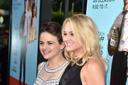 Actresses Joey King and Hunter King attend Focus Features' 'Wish I Was Here' premiere at DGA Theater on June 23, 2014 in Los Angeles, California.