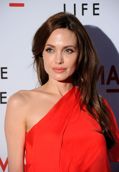 "Actress Angelina Jolie arrives at premiere of Fox Searchlight Pictures' ""The Tree of Life"" at Bing Theatre at the Los Angeles County Museum of Art on May 24, 2011 in Los Angeles, California."