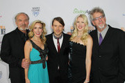 "(L-R) Director James Keach, Kim Campbell, Cal Campbell, Ashley Campbell and Trevor Albert attend the Premiere of ""Glen Campbell... I'll Be Me"" at Pacific Design Center on November 11, 2014 in West Hollywood, California."