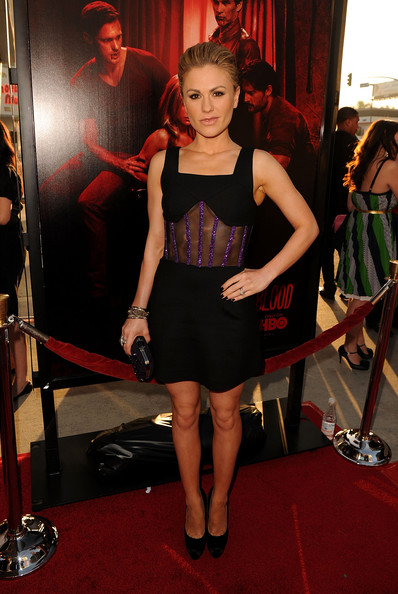 "Actress Anna Paquin arrives at premiere of HBO's ""True Blood"" Season 4 at ArcLight Cinemas Cinerama Dome on June 21, 2011 in Los Angeles, California."