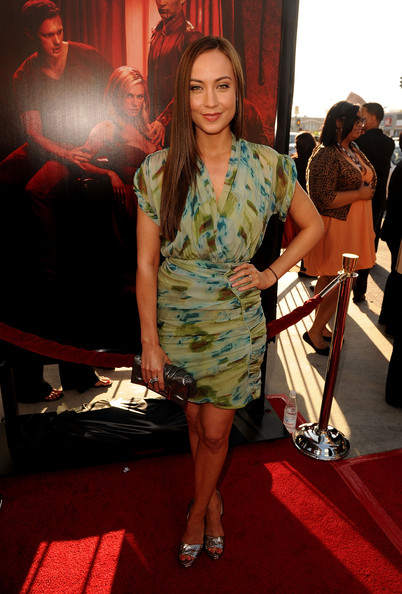 "Actress Courtney Ford arrives at premiere of HBO's ""True Blood"" Season 4 at ArcLight Cinemas Cinerama Dome on June 21, 2011 in Los Angeles, California."