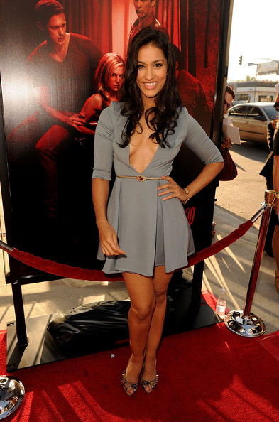 "Actress Janina Gavankar arrives at premiere of HBO's ""True Blood"" Season 4 at ArcLight Cinemas Cinerama Dome on June 21, 2011 in Los Angeles, California."