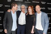 Producer Sam Bisbee, director John Slattery, actress Christina Hendricks and producer Lance Acord arrive at the premiere of  IFC Films 'God's Pocket' at LACMA on May 1, 2014 in Los Angeles, California.