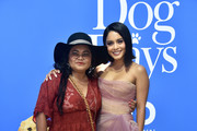 """Vanessa Hudgens (R) and Gina Guangco attend the premiere of LD Entertainment's """"Dog Days"""" at Westfield Century City on August 5, 2018 in Century City, California."""