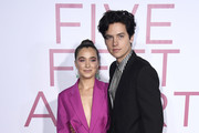 """Cole Sprouse and Haley Lu Richardson attend the Premiere Of Lionsgate's """"Five Feet Apart"""" at Fox Bruin Theatre on March 07, 2019 in Los Angeles, California."""