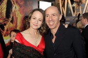 """Producers Nina Jacobson (L) and Jon Kilik arrive at the premiere of Lionsgate's """"The Hunger Games"""" at Nokia Theatre L.A. Live on March 12, 2012 in Los Angeles, California."""