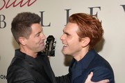 """(L-R) Jeremy Camp and K.J. Apa attend the premiere of Lionsgate's """"I Still Believe"""" at ArcLight Hollywood on March 07, 2020 in Hollywood, California."""