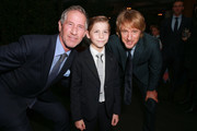 """(L-R) Lionsgate CEO Jon Feltheimer, Jacob Tremblay and Owen Wilson attend the after party for the premiere of Lionsgate's """"Wonder"""" on November 14, 2017 in Los Angeles, California."""