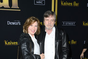 """Mark Hamill and Marilou York attends the premiere of Lionsgates' """"Knives Out""""  at Regency Village Theatre on November 14, 2019 in Westwood, California."""