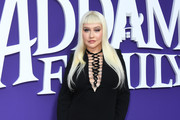 """Christina Aguilera attends the premiere of MGM's """"The Addams Family"""" at Westfield Century City AMC on October 06, 2019 in Los Angeles, California."""
