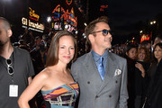 """Producer Susan Downey (L) and Actor Robert Downey Jr. attend the premiere of Marvel's """"Avengers: Age Of Ultron"""" at Dolby Theatre on April 13, 2015 in Hollywood, California."""