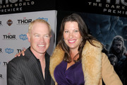 Actor Neal McDonough (L) and Ruve McDonough arrive at the premiere of Marvel's 'Thor: The Dark World' at the El Capitan Theatre on November 4, 2013 in Hollywood, California.