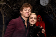 "Ross Lynch (L) and Kiernan Shipka attend the after party for the premiere of Netflix's ""Chilling Adventures Of Sabrina"" at the Hollywood Athletic Club on October 19, 2018 in Los Angeles, California."