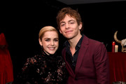 "Kiernan Shipka (L) and Ross Lynch attend the after party for the premiere of Netflix's ""Chilling Adventures Of Sabrina"" at the Hollywood Athletic Club on October 19, 2018 in Los Angeles, California."