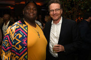 """Lavell Crawford (L) and Bryan Cranston attend the Premiere of Netflix's """"El Camino: A Breaking Bad Movie"""" After Party at Baltaire on October 07, 2019 in Los Angeles, California."""