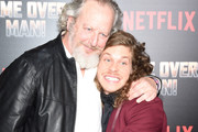 """Daniel Stern and Blake Anderson attend the premiere of Netflix's """"Game Over, Man!"""" at Regency Village Theatre on March 21, 2018 in Westwood, California."""