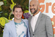 """(L-R) Adam DeVine and Keegan-Michael Key attend the premiere of Netflix's """"Green Eggs And Ham"""" at Hollywood American Legion on November 03, 2019 in Los Angeles, California."""