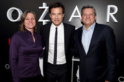 """(L-R) Cindy Holland, Jason Bateman and Ted Sarandos arrive at the premiere of Netflix's """"Ozark"""" Season 2 at the Arclight Theatre on August 23, 2018 in Los Angeles, California."""