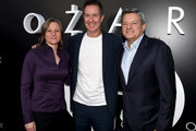 """(L-R) Cindy Holland, Chris Mundy and Ted Sarandos arrive at the premiere of Netflix's """"Ozark"""" Season 2 at the Arclight Theatre on August 23, 2018 in Los Angeles, California."""