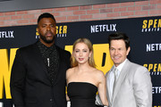 """(L-R) Winston Duke, Iliza Shlesinger, and Mark Wahlberg attend the Premiere of Netflix's """"Spenser Confidential"""" at Regency Village Theatre on February 27, 2020 in Westwood, California."""