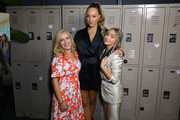 (L-R) Actresses Angela Kinsey, Ava Michelle and Sabrina Carpenter attend the premiere of Netflix's 'Tall Girl' after party on September 09, 2019 in Los Angeles, California.