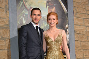"""Actors Eleanor Tomlinson (L) and Nicholas Hoult attend the premiere of New Line Cinema's """"Jack The Giant Slayer"""" at TCL Chinese Theatre on February 26, 2013 in Hollywood, California."""