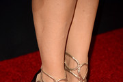 "Actress Charlotte Ross (Shoe Detail) attends the premiere of Open Road's ""Triple 9"" at Regal Cinemas L.A. Live on February 16, 2016 in Los Angeles, California."