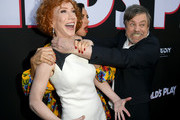 "(L-R) Kathy Griffin, Aubrey Plaza and Mark Hamill arrive at the premiere of Orion Pictures and United Artists Releasing"" ""Child's Play"" at ArcLight Hollywood on June 19, 2019 in Hollywood, California."