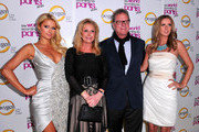 "(L-R) Paris Hilton, Kathy Hilton, Chairman and co-founder of Hilton & Hyland Rick Hilton and Nicky Hilton arrive at premiere of Oxygen's New Docu-Series ""The World According To Paris"" at Tropicana Bar at The Hollywood Roosevelt on May 17, 2011 in Los Angeles, California."