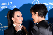 "Kyle Richards and Kris Jenner attend Premiere Of Paramount Network's ""American Woman"" - Arrivals at Chateau Marmont on May 31, 2018 in Los Angeles, California."