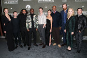 "(L-R) Gage Golightly, Nicholas Coombe, Fahim Fazli, Jeremy Tardy, Sam Keeley, Cristina Rodlo, Lamont Thompson, Derek Theler, Beth Riesgraf and Al Coronel attend the premiere of Paramount Pictures' ""68 Whiskey"" at Sunset Tower on January 14, 2020 in Los Angeles, California."