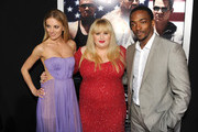 """(L-R) Actors Bar Paly, Rebel Wilson, and Anthony Mackie arrive at the premiere of Paramount Pictures'.""""Pain & Gain"""" at TCL Chinese Theatre on April 22, 2013 in Hollywood, California."""