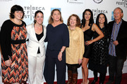 "(L-R) Jennifer Dubin, Cora Olsen, Kathleen Turner, Rebecca Wackler, Angelique Cabral, Anne Renton and Richard Chamberlain attend the premiere of ""The Perfect Family"" at the 2011 Tribeca Film Festival at BMCC Tribeca PAC on April 24, 2011 in New York City."
