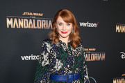 "Director Bryce Dallas Howard arrives at the premiere of Lucasfilm's first-ever, live-action series, ""The Mandalorian,"" at the El Capitan Theatre in Hollywood, Calif. on November 13, 2019. ""The Mandalorian"" streams exclusively on Disney+."