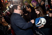 """Executive Producer Jon Favreau arrives at the premiere of Lucasfilm's first-ever, live-action series, """"The Mandalorian,"""" at the El Capitan Theatre in Hollywood, Calif. on November 13, 2019. """"The Mandalorian"""" streams exclusively on Disney+."""