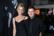 """Actress Rachel Roberts and Director Andrew Niccol arrive at the Premiere of Regency Enterprises' """"In Time"""" at the Regency Village Theater on October 20, 2011 in Westwood, California."""
