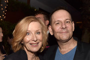 Actress Frances Conroy (L) and executive producer Tim Minear pose at the after party for the premiere screening of FX's 'American Horror Story: Freak Show' at the Roosevelt Hotel on October 5, 2014 in Los Angeles, California.